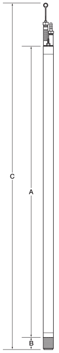 "1.66"" Diameter Reclaimer Pump Specification Drawing"