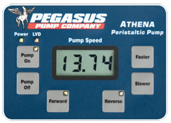 Pegasus Athena Peristaltic Pump Control Panel